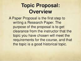 topic proposal presentation topic