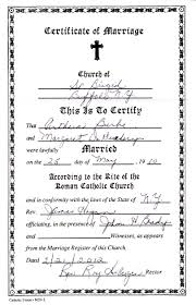 Marriage Certificate Genealogy And Jure Sanguinis
