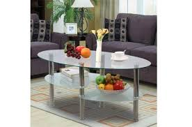 round glass end tables. Yaheetech 3 Tier Modern Living Room Oval Glass Coffee Table Round Side End Tables With