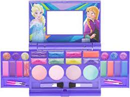 townley disney frozen elsa and anna beauty kit kids washable lip gloss pact set