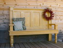 Old door bench for front porch