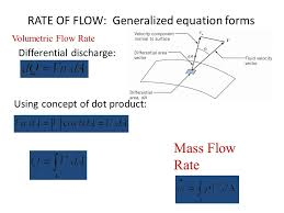 5 rate of flow generalized equation forms