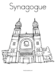 Small Picture SynagogueJewish Worship Place Coloring Page Twisty Noodle