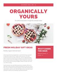 Wellness Newsletter Templates Red Simple Christmas Newsletter Templates By Canva
