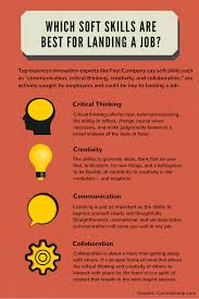 develop soft skills for more job success job soft skills infographic