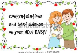 Greeting Card New Born Baby Stock Vector Royalty Free 236132632