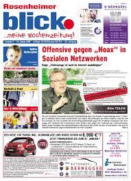 Rosenheimer blick - Ausgabe 27   2016 by Blickpunkt Verlag - issuu