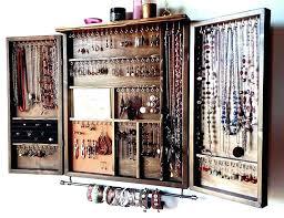 hanging jewelry box wall mount jewelry box cabinet medium size of closet boxes mounted hanging plans