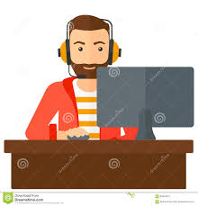 Image result for playing a computer game clipart