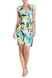 Maggy London Size Chart Paint Swirl Wrap Dress