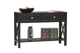 black console table with storage. Appealing Black Console Table Design With 2 Drawers And Storage Space Underneath