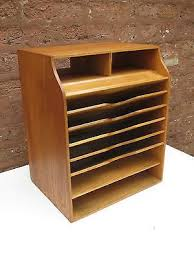 wood office desk. Antique Vintage Wood Office Desk File Organizer Mail Sorter Tray Caddy