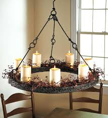 enchanting pillar candle chandelier round