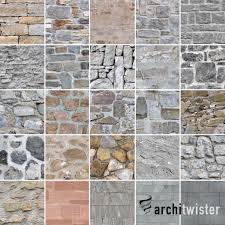 25 seamless stone wall textures 3d model c4d pdf 1
