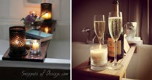 candles and champagne