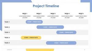 Timeline Powerpoint Slide Project Timeline Free Powerpoint Template