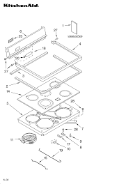 ykerc507hs4 free standing electric range cooktop parts diagram control panel parts diagram