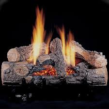 rasmussen 18 inch chillbuster gas log set with vent free natural gas evening embers single