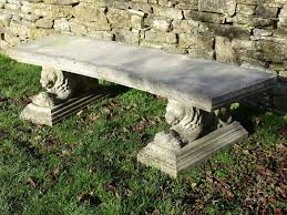 vintage curved stone bench holloways