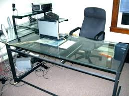 office depot glass computer desk. Modren Computer Office Depot Glass Computer Desk L Shaped Medium Image For  Wondrous Trendy Black With S