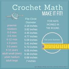 Baby Head Circumference Chart For Hats Learn How To Crochet A Beanie That Fits Oombawka Design