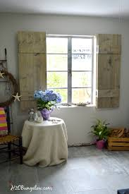 build your own set of old world inspired wood shutters finish raw wood with an