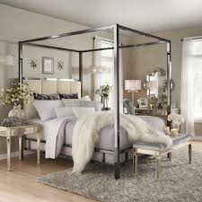 Solivita Black Nickel Metal Canopy Bed with Vertical Panel Headboard by  iNSPIRE Q Bold - Free Shipping Today - Overstock.com - 24912343