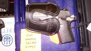 colt mustang black leather pocket holster