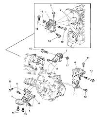 1997 chrysler town country engine mounts diagram 00i19645 show parts list