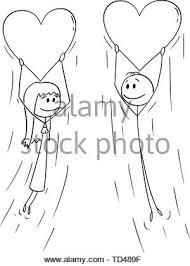 Loving Couple With Speech Balloon Illustration Stock Vector Art