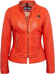 blauer usa icon biker las leather jacket