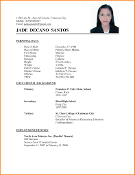 Filipino Resume Sample Portfolio In Fresh For Job Application
