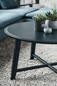 Its steel base is outfitted in a textured gunmetal finish and boasts an open picket shelf. Kragsta Coffee Table Black 35 3 8 Ikea