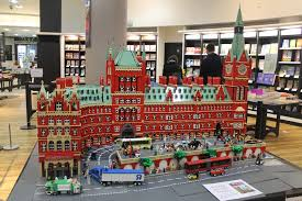 lego version of st pancras station inside waterstone s piccadilly london magic