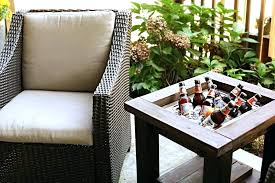 stainless steel patio coolers outdoor patio cooler and side table with built in drink cooler bower stainless steel patio coolers