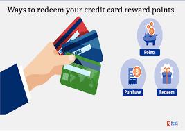 how to redeem credit card reward points