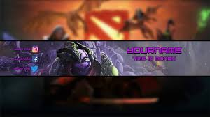 dota 2 free banner template i faceless void by danco youtube
