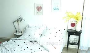 polka dot bedding gold set queen duvet cover white