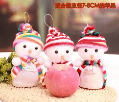fruit christmas decorations. Simple Fruit Christmas Decoration Novelty Fruit Gift Bag Present Eve  Apple Packing Cute Snowman At Home  For Decorations E