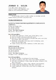 Sample Resume In The Philippines Resume Sample Gamboa Resume
