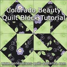 Colorado Beauty Quilt Block: Illustrated Step-by-Step Tutorial & Colorado Beauty quilt block instructions Adamdwight.com