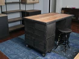 Rustic Kitchen Cart Island Combine 9 Industrial Furniture Industrial Kitchen Island