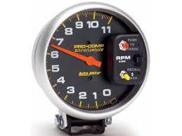 autometer pedestal mount tachometer tach gauge auto meter 6831 super mag memory tach