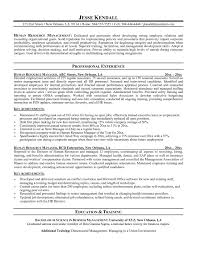 Human Resources Generalist Resume Sample Hr Samples