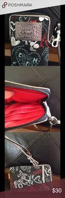 Coach Poppy Small Wallet Wristlet Like new Small Coach Poppy Wallet Wristlet.  This