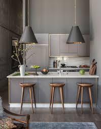 Kitchen Interior Fittings The Subtle Brass Trim Around This Kitchens Grey Fittings Add