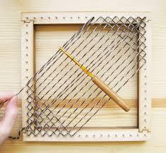 square pin loom sd weaving