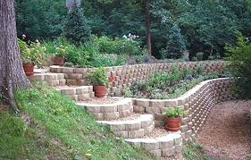 Backyard Retaining Wall Designs Best Backyard Retaining Wall Designs With Garden R 48