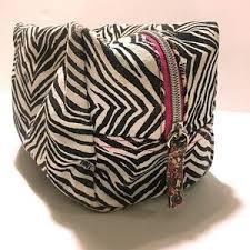 pink victoria s secret bags victoria s secret pink zebra print cosmetic bag