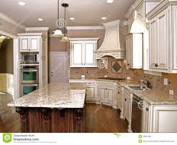 Kitchen With Granite Luxury Kitchen With Granite Topped Island Royalty Free Stock